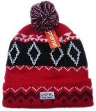 寒い気候の帽子のアクリルのストリップによって編まれる帽子の帽子