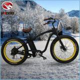 750W 4.5 pollici - bicicletta poco costosa elettrica dell'incrociatore della spiaggia dell'uomo della bici di montagna dell'alta gomma grassa di velocità