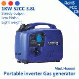 1kw 52cc 3.8L 120V of 230V de Draagbare Overbelasting van de Generator van het Gas van de Omschakelaar en de Lage Regelmatige Output van het Alarm van de Olie & Met geringe geluidssterkte & Lichtgewicht