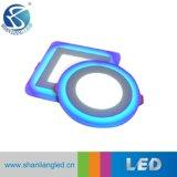 6+3W 9+3W 12+3W 18+6W série double panneau LED de couleur de l'éclairage