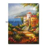 Pittura a olio mediterranea Handmade di paesaggio