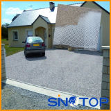 Strada privata di collegamento della ghiaia, maglia della strada privata della ghiaia, stuoia di plastica per ghiaia