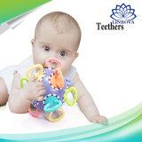 2018 Goma molar do lactente com Novo Design Manhattan Bola Dente Infantil Dispositivo de Fixação de Silicone mordedor para bebê