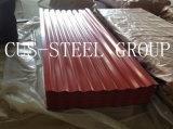 Feuille en acier ondulée enduite d'une première couche de peinture de tuile de toit/toiture de couleur