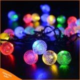 30의 LED 수정 구슬 태양 강화된 Ledertek 상표 옥외 정원 크리스마스 훈장을%s 대부분의 대중적인 지구 요전같은 빛