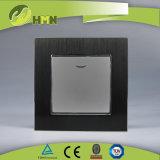 유럽 기준 TUV 세륨 콜럼븀에 의하여 증명되는 알루미늄 LED 은 스위치에 1가지의 갱 2 방법