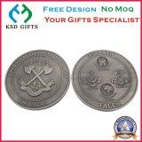 銅打たれた骨董品によってめっきされる挑戦金属の硬貨を停止しなさい