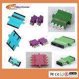Las ventas de calor azul de plástico de fibra óptica LC mm PC Adaptador de fibra óptica OM3