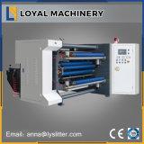 Machine de fente à grande vitesse de roulis de papier avec l'arbre de glissade