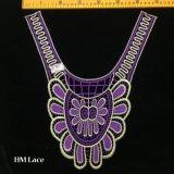 35*38cm de ancho Collar flor púrpura exquisita Venise adornos de encaje cuello costura artesanal aplique Hme912