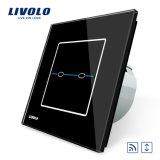 Interruptor alejado Vl-C702wr-31/32 de la cortina del tacto de cristal estándar del panel de la UE de Livolo
