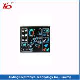 青いバックライトLCDのモジュールが付いているLCD表示