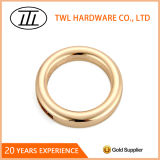 Die Casting Handbag Hardware Buckle Accessories, Light Gold Metal O Boxing ring