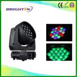 Éclairage principal mobile d'étape de la lumière 19*15W de zoom merveilleux de lavage