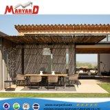 Diseño de la cuerda de aluminio silla y mesa de comedor juego de comedor Muebles adecuados para proyecto hotelero