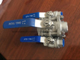 La fabricación de SS316 3 PC Válvula de bola con certificado CE