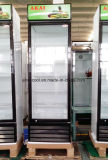 Porta de vidro comerciais de bebidas Vertical Exibir Frigorífico Refrigerador congelador
