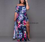 Женщины длиной макси платье, платье Esg10278 Boho длинней втулки флористической печати повелительниц длиннее