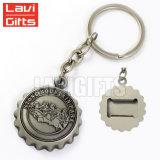 Promotion bon marché trousseau de clés personnalisé de métal Décapsuleur, Key Ring décapsuleur