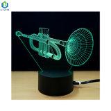 Het muzikale LEIDENE van de Schemerlamp van het Instrument Kleurrijke Licht van de Nacht