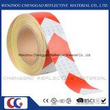 Weiße und rote Pfeil-Sicherheits-reflektierendes Band mit Kristallgitter (C3500-AW)