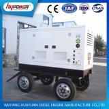 motor diesel accionado de Yangdong 490d del conjunto de generador del acoplado de las ruedas 18kVA 4