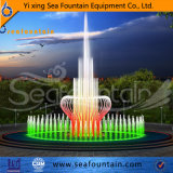 Старинная фонтаном воды пруд шоу фонтанов