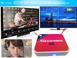 E8 cuadro Plus 6.0 de Android TV Box 2G 8G WiFi dual Kodi Smart TV Reproductor de medios de IPTV Decodificador en stock