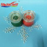 De grote Hoeveelheden Gebemerkte Kaarsen van de Soja met de Kruik van het Glas