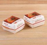 Packpapier-nehmen gedruckter Hamburger-verpackenkasten Papierhamburger-Kästen weg
