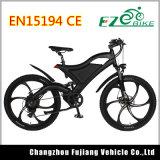 Fork llena de la suspensión bici eléctrica de la montaña de 26 pulgadas, MTB Ebike