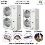 Pompe à chaleur de source d'air de contrôle intelligent trois domestiques dans un système (l'eau de heating+cooling+hot)
