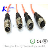 M12 6 Pin 끝 전기 케이블 RF 여성 방수 연결관