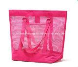 Kundenspezifische Ineinander greifen-Strand-Beutel, Dame-Frauen-Strand sackt Handtasche ein