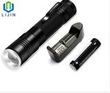 Lanterna elétrica leve forte de Zoomable com cobrar do USB