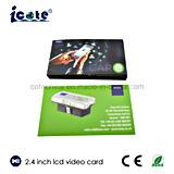 광고를 위한 최신 판매 관례 2.4 인치 LCD 영상 브로셔 비디오 카드