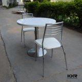 Белые круглые современной твердой поверхности обеденный стол,