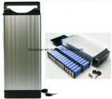 48V 15ah met Euro 3 Batterij van het Lithium van de Bagage van de Batterij van het Rek van de Batterij van Ebike van de Stop van de Speld 48V 850W bouwt de Achter20A BMS in verzendt een Lader 54.6V 2A in China met Voorraad