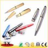 Métal et USB en plastique et en bois pour l'entraînement de stylo usb