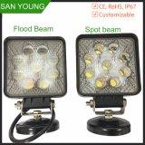 Indicatore luminoso rotondo automatico del lavoro del quadrato LED dell'indicatore luminoso 27W Epsitar del lavoro del LED per l'inondazione del fascio di punto dei camion