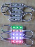 o Elevado-Brilho SMD3528 de 0.3W 3LEDs Waterproof o módulo do diodo emissor de luz para logotipos eletrônicos de /Business dos sinais/caixas leves