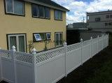 Backyard clôture PVC/blanc en vinyle PVC avec treillis de clôture de la vie privée
