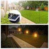 Indicatore luminoso alimentato solare esterno della lanterna di effetto LED della fiamma