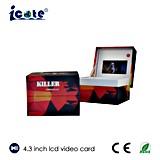 Muy Niza rectángulo video del LCD de 4.3 pulgadas con la alta calidad para el regalo/hacer publicidad