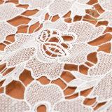 Merletto africano del ricamo del cotone della guipure dell'India dei materiali francesi del merletto