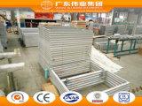 Guichet en aluminium de tissu pour rideaux de couleur en bois de bonne qualité de type chinois