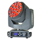 맨 위 빛을 이동하는 LED 19*15W RGBW 4in1 꿀벌 눈
