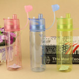 Творческие пластиковый сосуд моды Spray чашки пластиковые бутылки для переноски портативных спортивных чашку прямо чашки расширительного бачка