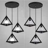 Nordische Art-kreative Retro bearbeitetes Eisen-hängende Lampe mit 3 Lampen