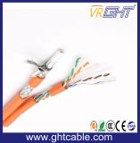 Zusammengesetztes Kabel RG6 mit Netz-Kabel Cat5
